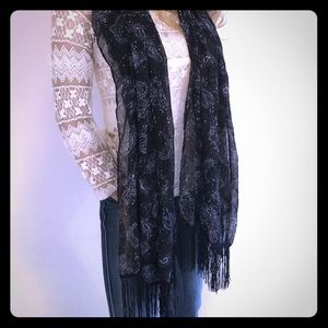 Accessories - Paisley Print Scarf Wrap